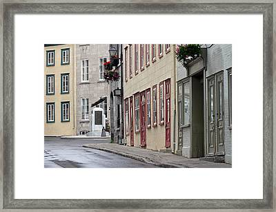 Rue De Jardiens In Quebec City Framed Print by Juergen Roth