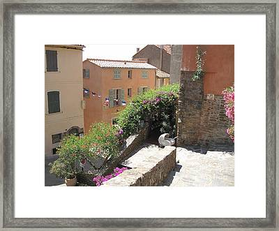 Framed Print featuring the photograph Rue De La Rose by HEVi FineArt