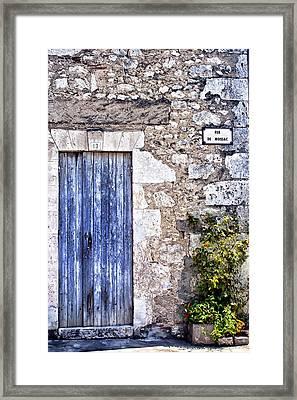 Rue De Moissac - France Photography Framed Print by Georgia Fowler