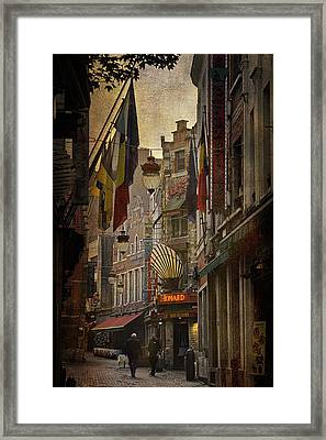 Rue Des Bouchers Framed Print