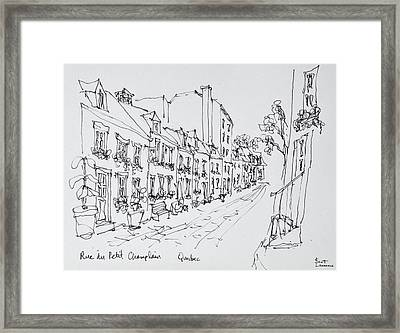Rue Du Petit Champlain, Vieux Quebec Framed Print
