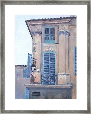 Rue Espariat Aix-en-provence Framed Print