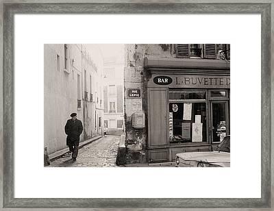 Rue Lepic Framed Print