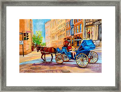 Framed Print featuring the painting Rue Notre Dame Caleche Ride by Carole Spandau