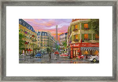 Rue Paris Framed Print by Dominic Davison