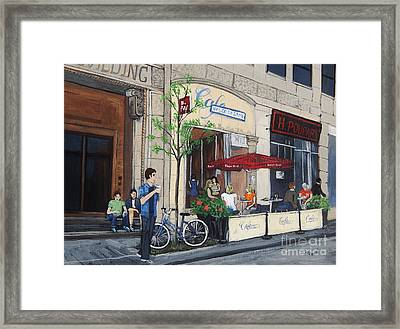 Rue Peel Framed Print by Reb Frost
