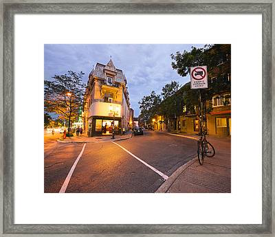 Rue Saint Denis Montreal Framed Print by Tanya Harrison