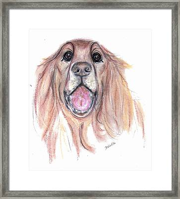 Framed Print featuring the painting Ruff by Desline Vitto