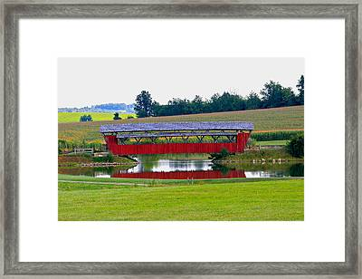 Ruffner Covered Bridge Framed Print by Jack R Perry