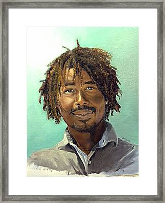 Framed Print featuring the painting Rufus by Lori Ippolito