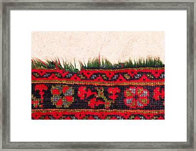 Rug Pattern Framed Print
