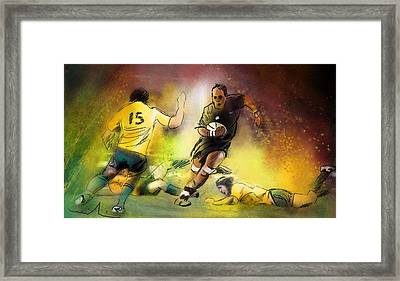 Rugby 01 Framed Print by Miki De Goodaboom