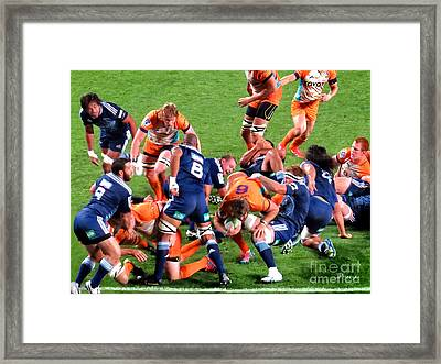 Rugby Blues Stormers..nz Framed Print by Jennie Breeze