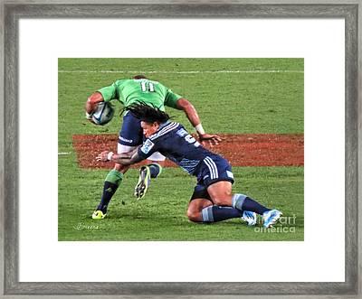 Rugby Blues.nz Framed Print by Jennie Breeze
