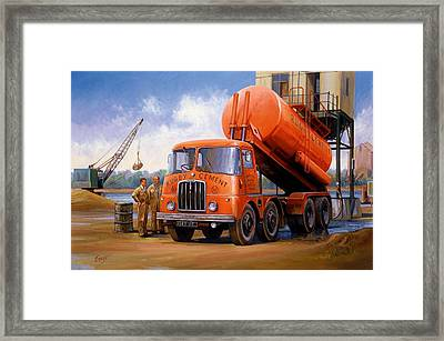 Rugby Cement Thornycroft. Framed Print by Mike  Jeffries