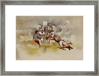 Rugby Framed Print by Corporate Art Task Force