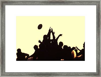 Rugby Line Out Framed Print
