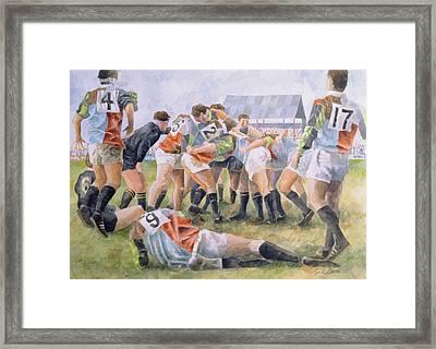 Rugby Match Harlequins V Wasps, 1992 Wc Framed Print