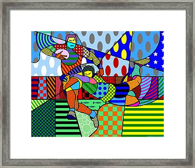 Rugby Framed Print by Randall Henrie