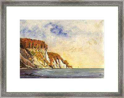 Rugen Cliffs Framed Print