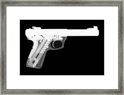Ruger 22 45 Reverse Framed Print by Ray Gunz