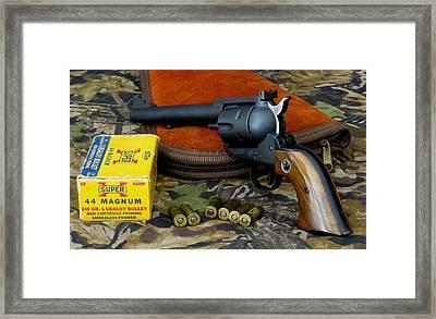 Ruger .44 Magnum Blackhawk Flattop Framed Print by Kent Dunning