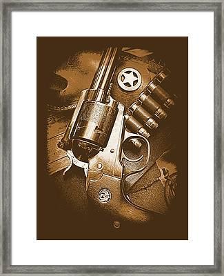 Ruger Super Blackhawk In Sepia 1 Framed Print by Sheri McLeroy