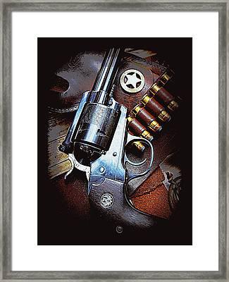 Ruger Super Blackhawk  Framed Print by Sheri McLeroy