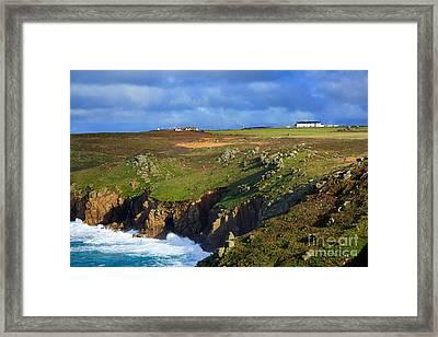 Rugged Cliffs Northeast Of Lands End Framed Print