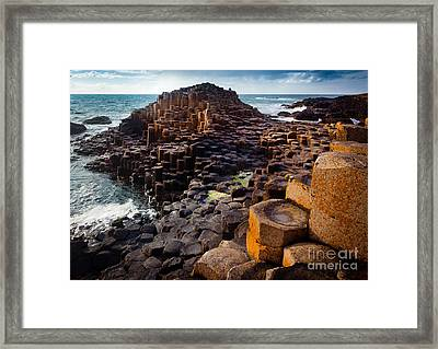 Rugged Giant's Causeway Framed Print