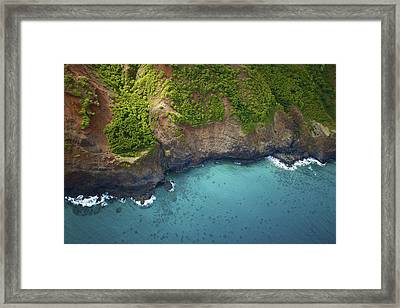 Rugged Kauai Coastline Framed Print by Kicka Witte