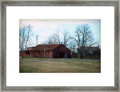 Rugged Shed II Framed Print by Paulette B Wright