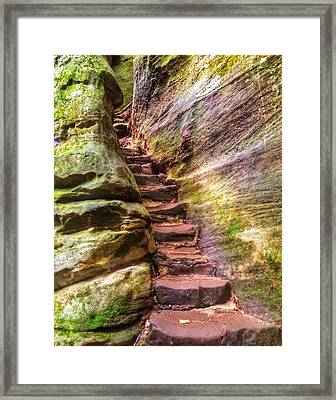 Rugged Steps Framed Print by Michael Ahlrichs
