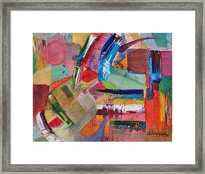 Rugged Strokes Framed Print