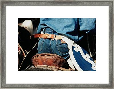 Rugged Wrangler Framed Print