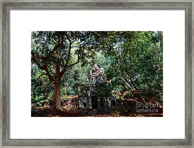 Ruin At Angkor Wat Framed Print by Julian Cook