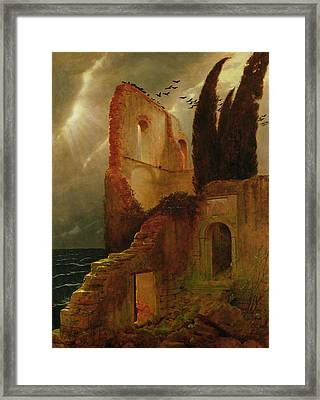 Ruin By The Sea, 1881 Framed Print by Arnold Bocklin
