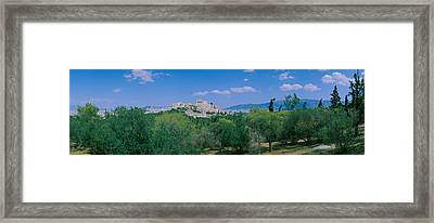 Ruined Buildings On A Hilltop Framed Print