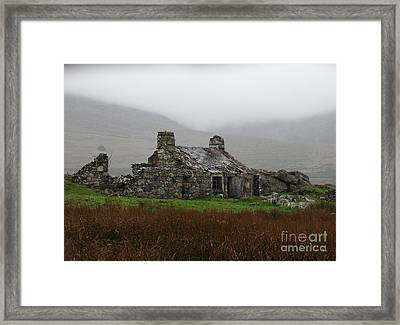 Ruined Cottage Snowdonia Framed Print by Nicola Butt