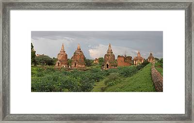 Ruined Stupas Near Village Of Min Nan Framed Print by Panoramic Images
