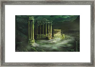 Ruined Temple Framed Print by Anthony Christou