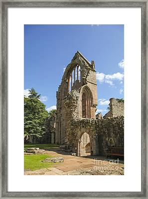 Ruined Wall Of Ancient Dryburgh Abbey Framed Print by Patricia Hofmeester