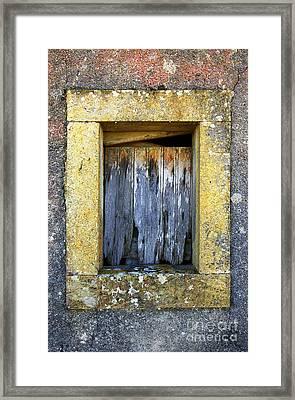 Ruined Window Framed Print by Carlos Caetano