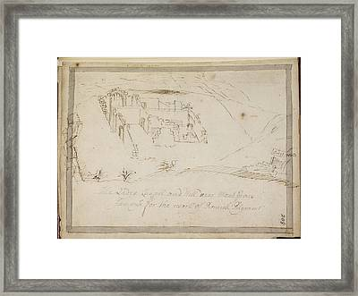 Ruined Yorkshire Country House Framed Print