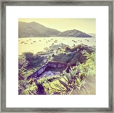 Ruins By A Harbor In Macau Framed Print