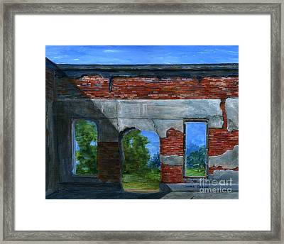 Ruins In Pleaant Hill Framed Print by Lenora  De Lude