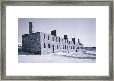 Ruins In Winter Framed Print by David Fiske