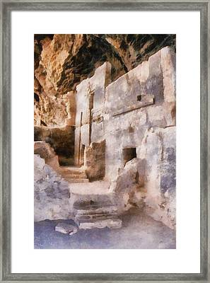 Ruins Framed Print by Michelle Calkins