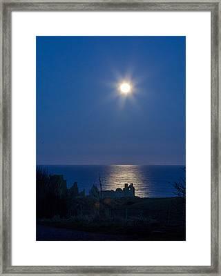Ruins Moonrise Framed Print