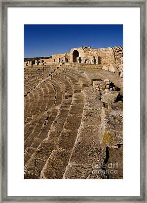 Ruins Of 2nd Century Roman Theater Framed Print
